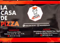 La Casa De Pizza, Renkli & Logolu Islak Mendil Nadir Ambalaj Islak Mendil