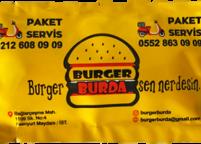 Burger Logolu Islak Mendil Nadir Ambalaj Islak Mendil